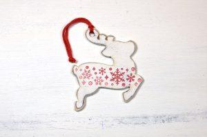 Ornament de brad- Santa's Reindeer