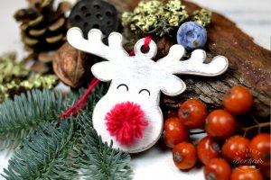 Ornament de brad- Red nose reindeer