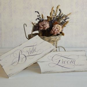 Tablite decorative pictate manual- Bride&Groom