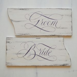 Tablite decorative pictate manual- Bride&Groom