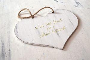Placuta decorativa inima- Si au trait fericiti pana la adanci batraneti