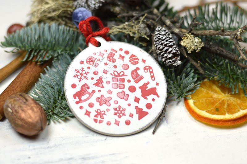 Ornament brad- Winter joy