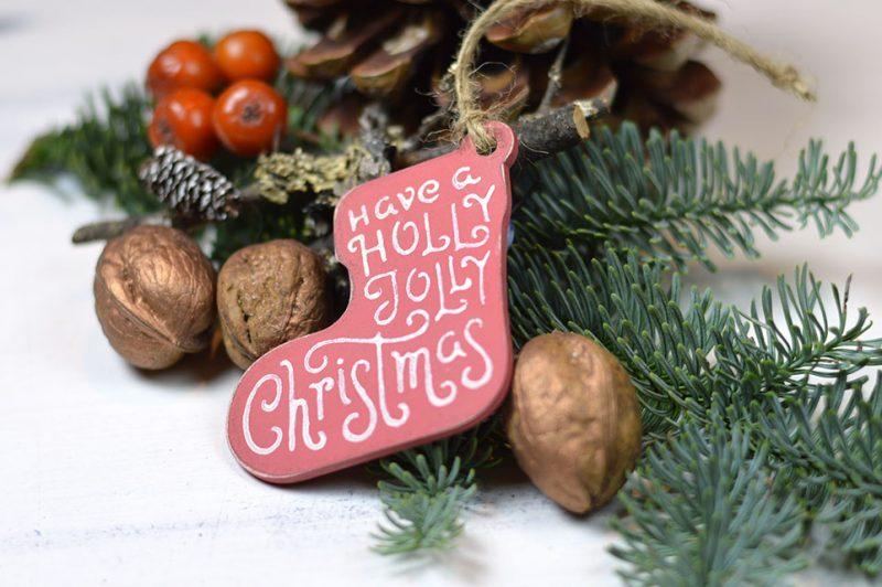 Set 6 ornamente - Santa's gift
