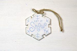 Ornament de brad-Let it snow