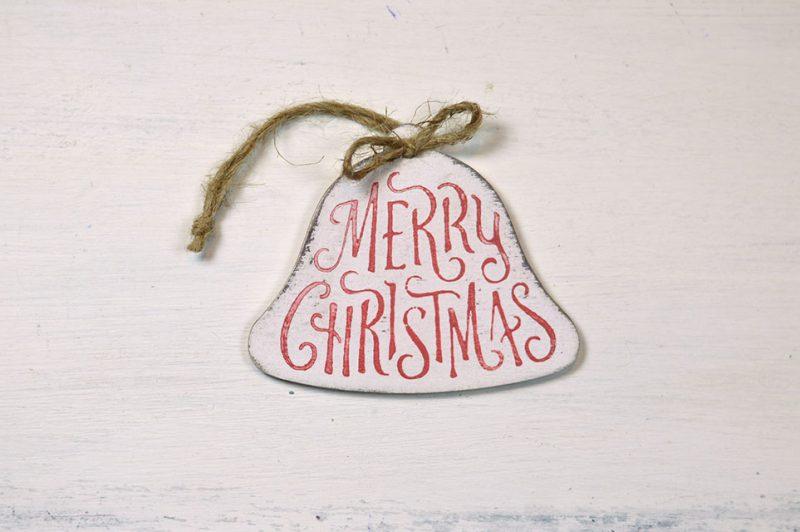 Ornament de brad - Merry Christmas