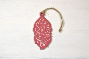 Ornament brad-Santa is coming to town