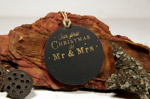 Ornament de brad personalizat- Our first Christmas as Mr&Mrs - golden touch
