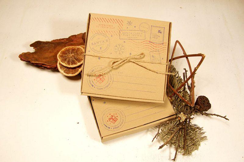 cutie de cadou realizata manual din lemn de brad