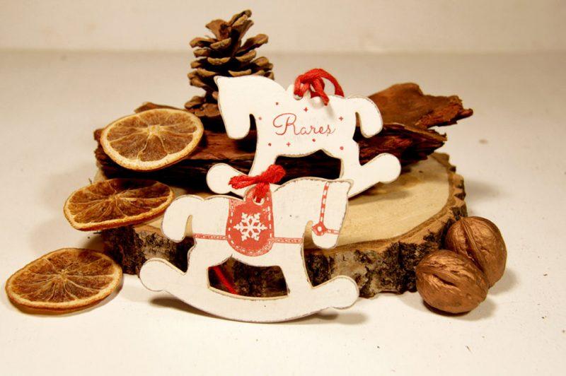 Ornament de brad personalizat - Rocking horse