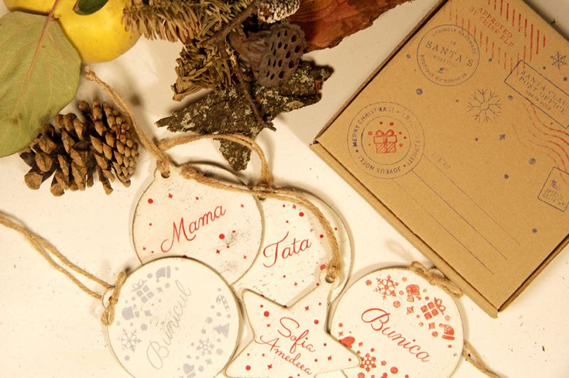 Set 5 ornamente de brad - Happy family