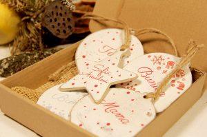 Set 5 ornamente de brad Happy family 2