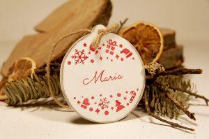 Ornament de brad personalizat cu nume