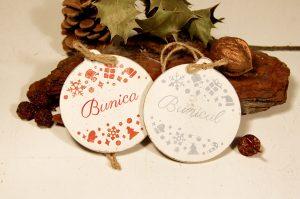 Set doua ornamente personalizate - Bunica si Bunicul