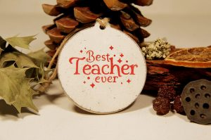 Ornament de brad personalizat- Best teacher ever