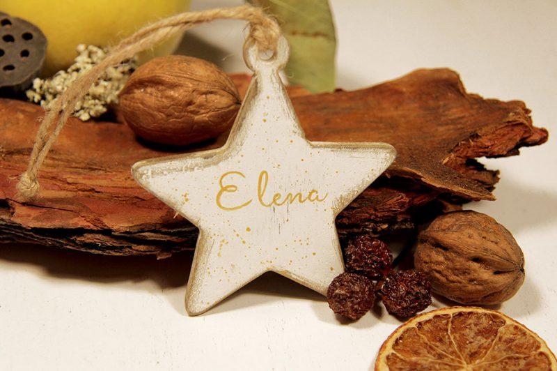 Ornament de brad personalizat -Little star