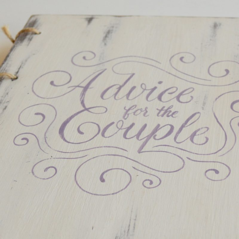 "Guestbook ""Advice for the Couple"""