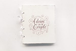 "Guestbook personalizat, pictat manual - ""Advice for the Couple"""