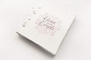 """Guestbook personalizat, pictat manual - """"Advice for the Couple"""""""