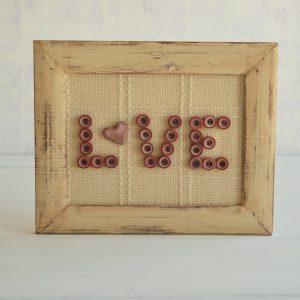 "Rama decorativa "" Love"""