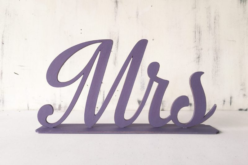Litere mdf - Mr &Mrs