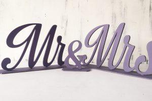 Litere mdf - Mr &Mrs