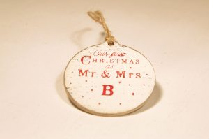 Ornament de brad personalizat- Our first Christmas as Mr&Mrs