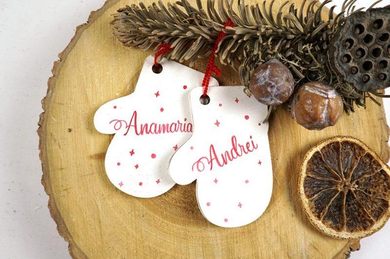 Set doua ornamente de brad personalizate-Perfect together