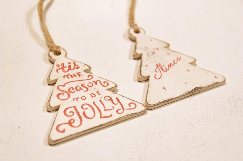Ornament de brad personalizat- Secret Santa