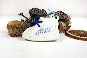 Ornament de brad personalizat cu nume- Baby's 1st Christmas