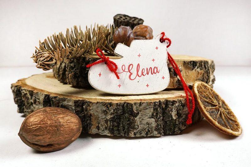 Ornament de brad personalizat cu nume botosei pentru fetite 4