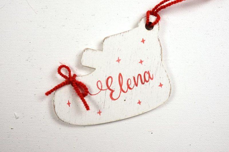 Ornament de brad personalizat cu nume botosei pentru fetite 6