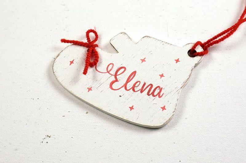 Ornament de brad personalizat cu nume botosei pentru fetite 5