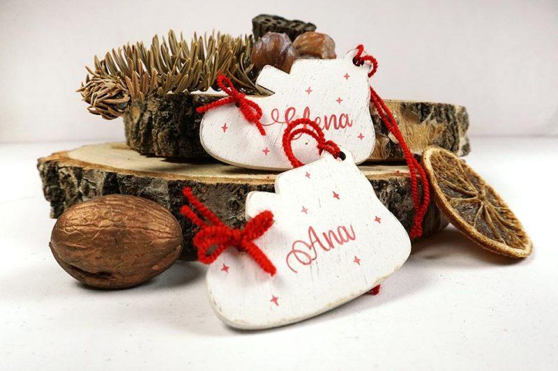 Ornament de brad personalizat cu nume botosei pentru fetite 2