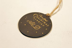 Ornament de brad personalizat- Our first Christmas Married - golden touch