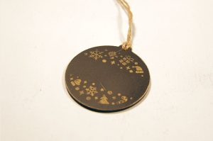 Ornament de brad Golden Christmas personalizat cu nume sau mesaj