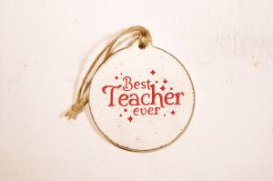 Ornament de brad personalizat- Best teacher ever