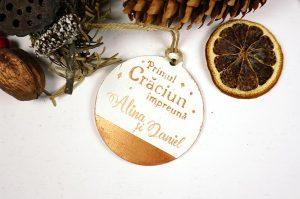 Ornament de brad personalizat- Primul Craciun impreuna