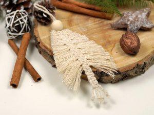Xmas ornament pentru brad realizat manul din macrame