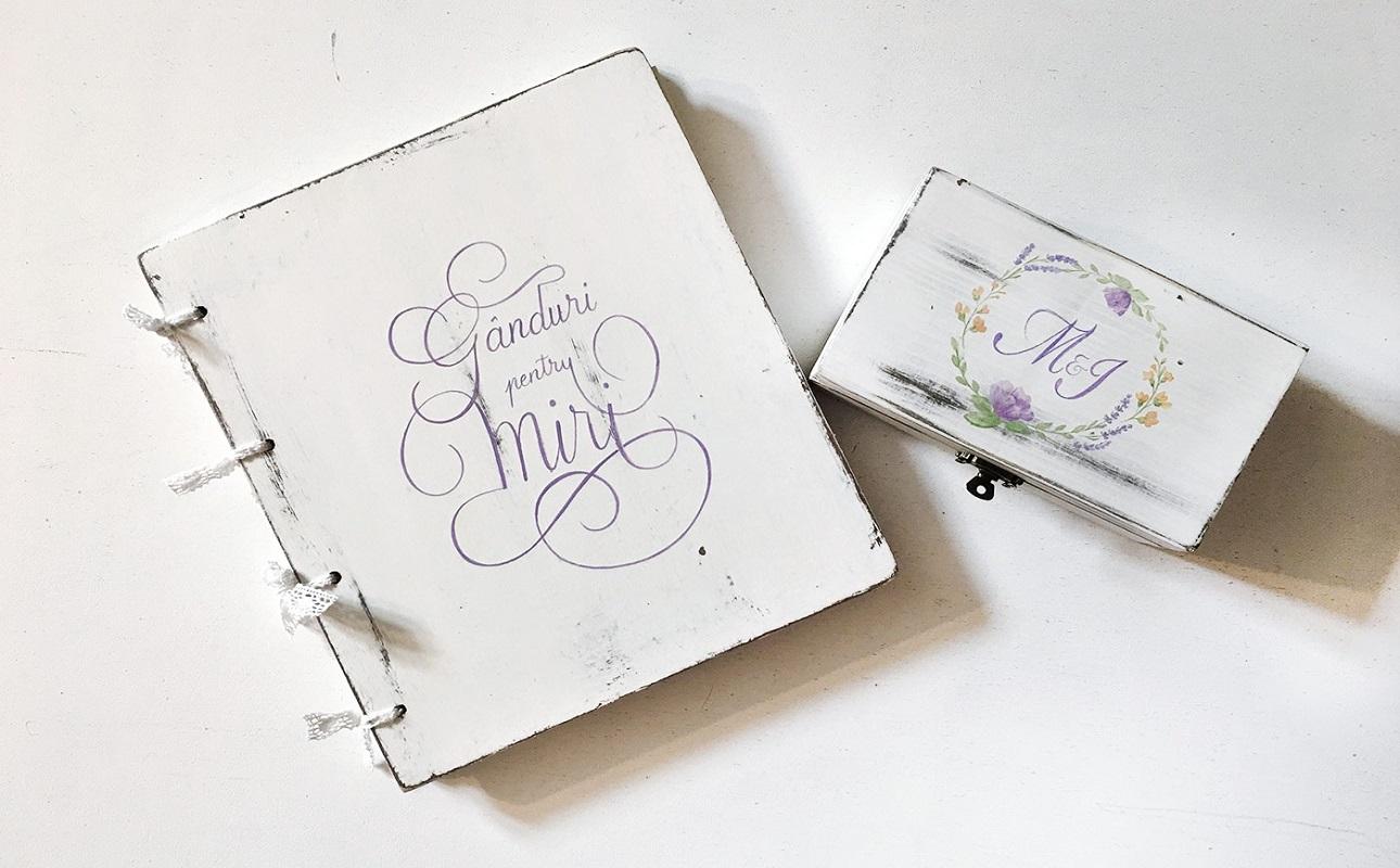set caiet si cutie verighete pentru nunta